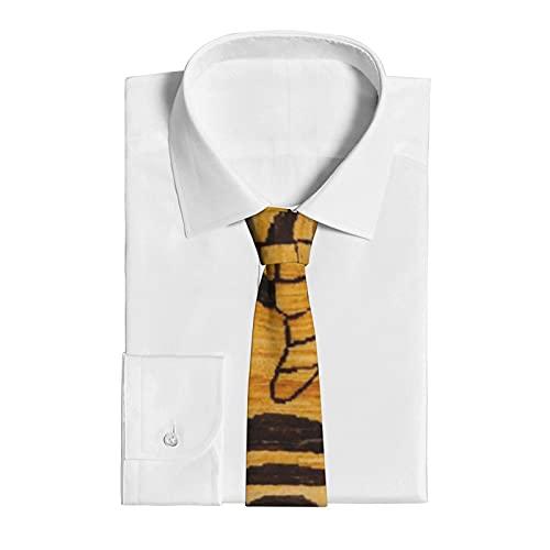 Corbata para hombre, para bodas, fiestas, negocios, uso diario o informal, para novios, hombres, regalo para Halloween, Navidad, alfombra de tigre I Wild Animal Zoo