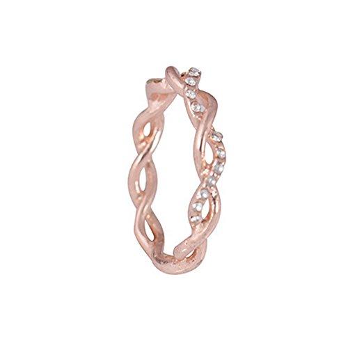 Damen Schmuck, Diamant Twist Legierung Ring Distorted Ring Hochzeit Ring Geburtstagsgeschenk für Eid Ramadan Clearance Sale Legierung Ringe