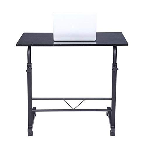 XJL Mesa de comedor plegable para ordenador portátil, escritorio ajustable y extraíble, tablero de aglomerado de acero, para ajustar la altura ajustable