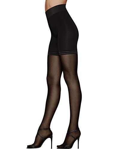 DKNY Damen High Waist Toner Sheer Tight Strümpfe, schwarz, Small