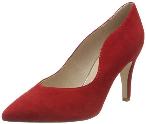 CAPRICE Effi, Scarpe con Tacco Donna, Rosso (Red Suede 524), 40 EU