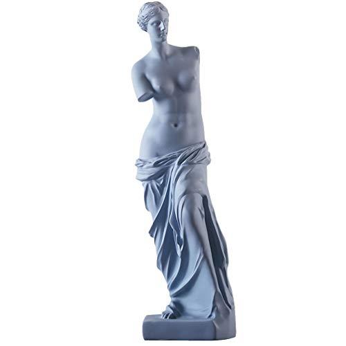 IMIKEYA Estatua de Yeso Venus Estatua de Brazo Roto Hombre Artístico Estatuilla Ornamento Decoración de Escritorio