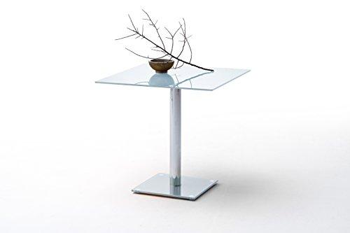 Esstisch 80 x 80 cm Glas weiss lackiert