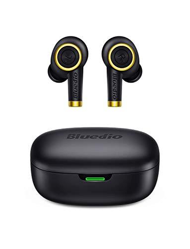 Auricolari Bluetooth, Bluedio P (Particle) Cuffie Bluetooth 5.0 Senza Fili TWS Auricolari Wireless con Custodia da Ricarica 24 Ore, TWS Mini Cuffie in Ear per Sport, Nero, Taglia unica
