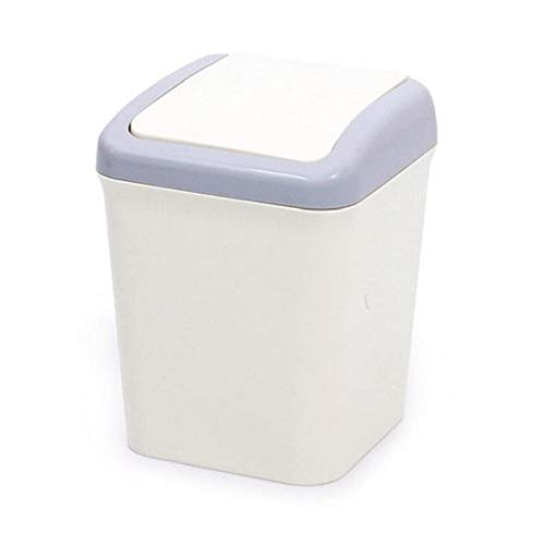 PiniceCore Mini Waste Bin Home Office Trash Can Desktop Garbage Box Table Dustbin Sundries Barrel Bins Storage Box(Random Color)