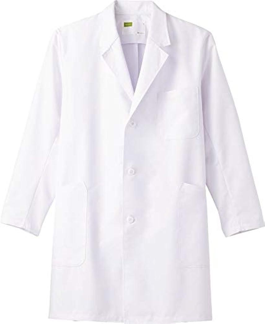 不機嫌そうなロッド液体ハーフ丈 白衣 メンズシングルハーフコート メディカルウェア (L) WH11507