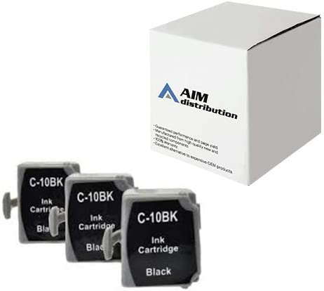 AIM Compatible Replacement for Canon BCI-10 Black Inkjet (3/PK) (F47-0751-410) - Generic