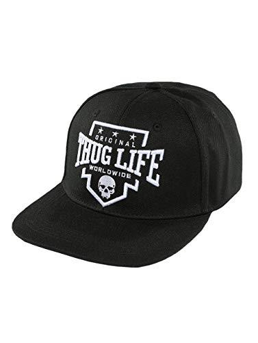 Thug Life Herren Snapback Caps Worldwide schwarz Verstellbar