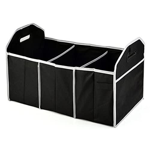 YSTJKD Organizer Baule Prodotti Auto Car Trunk Storage Bag Box Bagagliaio Pieghevole Borsa per Portabagagli Automobile Organizzatore per Portabagagli Scomparti Multipli Nero 53 x 33 x 33cm 1 PCS
