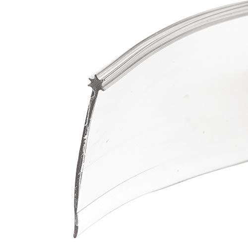 Shower Door Bottom Sweep, 1/8'x 1-5/16'x 36' , Clear Vinyl
