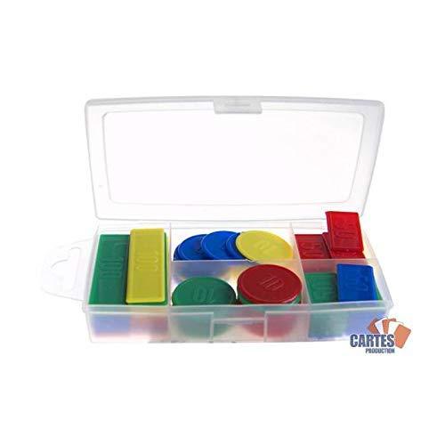 JeuJura - 8986 - jeu de société en bois - Boîte 100 jetons en plastique