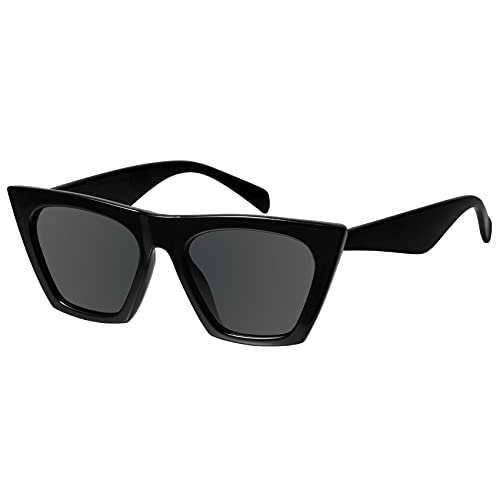 Cat Eye Sunglasses for Women Trendy Square Cateye Glasses...