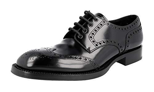 Prada Herren Schwarz Budapester Leder Business Schuhe 2EG230 055 F0002 43.5 / UK 9.5