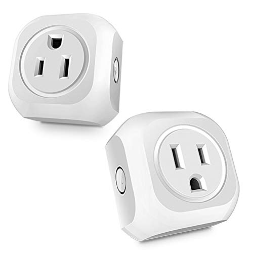 Wireless Plug Mini Scoket Smart Outlet Remote controlled by Smart Phone,WiFi plug Outlet Socket 2 Pack Works with Amazon Alexa and Goggle Home Assistant with Timing Function and Energy Monitoring