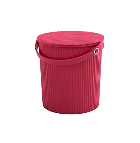 Heding Washable multi-function storage basket storage basket receiving supplies (Color : Red, Size : A)