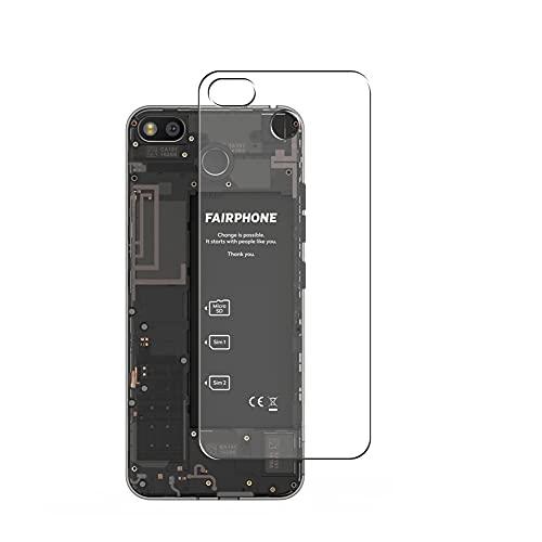 Vaxson 2 Unidades Protector de pantalla Posterior, compatible con Fairphone 3 [No Vidrio Templado] TPU Película Protectora Espalda Skin Cover
