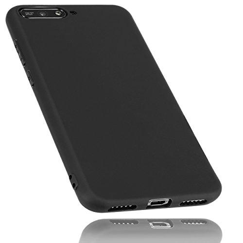 mumbi Hülle kompatibel mit Huawei Y6 2018 Handy Hülle Handyhülle, schwarz