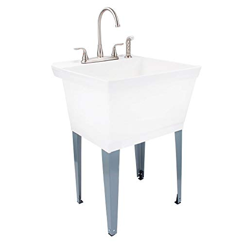 MAYA Utility Sink Laundry Tub with Faucet