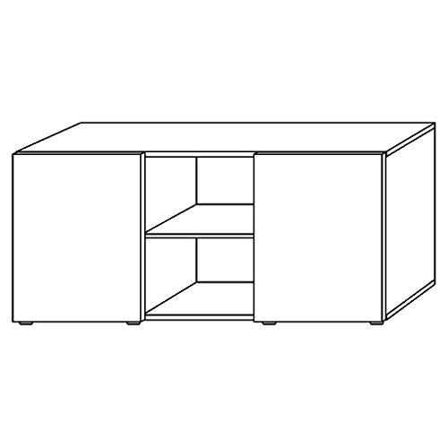 Bureaumeubel expert kastaccessoires kantoorkast archiefkast houten deuren 3 planken Grafiet-eiken