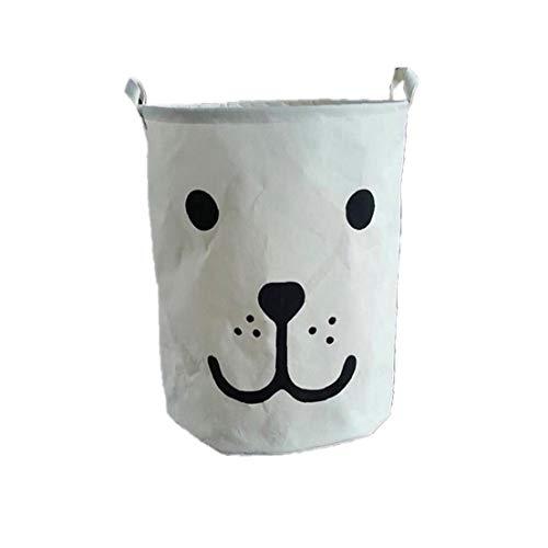 Hiinice 50 * 40 cm Caja de Almacenamiento de la Ropa del Bolso del Organizador Cesta de lavadero de la Historieta por Juguetes sucios Misceláneas Cesta Plegable Blanca