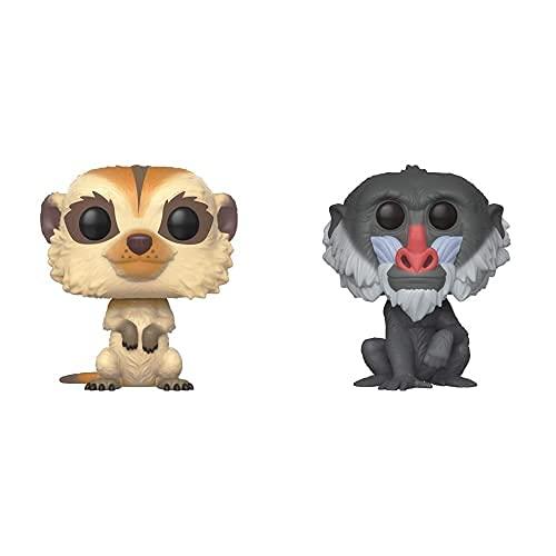 Funko Pop! Vinilo: Disney: The Lion King: Timon + Pop! Vinilo: Disney: The Lion King: Rafiki