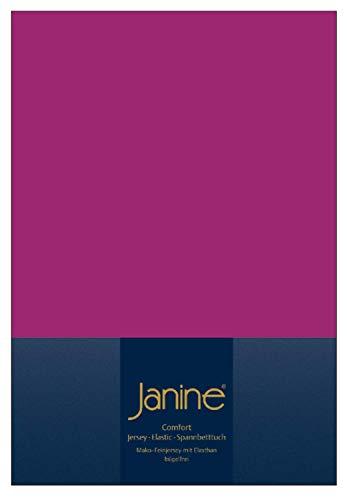 Janine Spannbettlaken Jersey Elastic, fuchsia, Größe Bettlaken:90/100x190/220