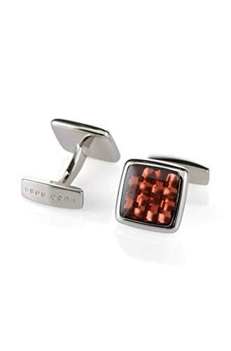 Peter Red Brass Cufflinks