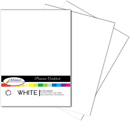 White Paper Cardstock (3 Pack) - for Brochure, Invitations, Stationary Printing | 80 lb Card Stock | 8.5 x 11 inch | Heavy Weight Cover Stock (216 GSM) 100 Brightness | Letter Size | 50 Sheets Each