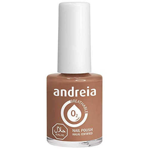 Andreia Halal ademend nagellak Vernis - Waterdoorlatend - B18 grijs - Shades of Nude and Brown | 10,5 ml