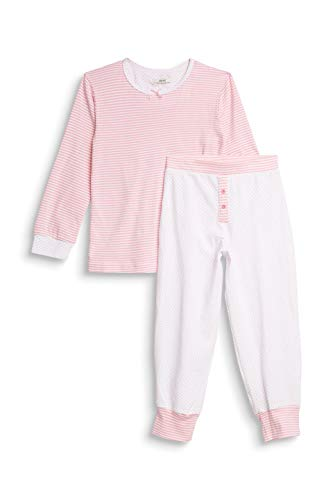 ESPRIT Bodywear Mädchen Girlie Mix MG Pyjama Pyjamaset, 100/WHITE, 116/122