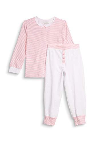 ESPRIT Bodywear Mädchen Girlie Mix MG Pyjama Pyjamaset, 100/WHITE, 128/134