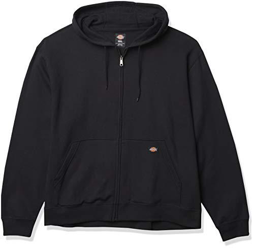 Dickies Herren Big Tall Full Zip Hoodie Fleece-Jacke, schwarz, 3X