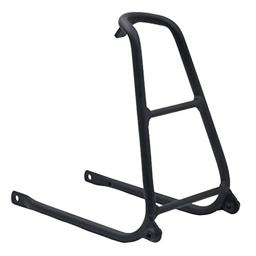 Generic Porte-Vélos des Supports de Bicyclettes,Porte-Bagages Arière Pliable pour Brompton Tous Vélos Pliants - Noir, 24x15cm