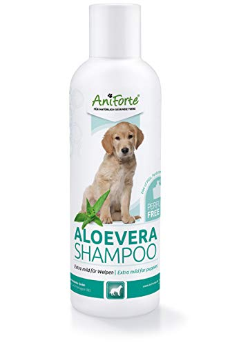 AniForte Aloe Vera Welpenshampoo für Hunde mild 200ml - Hundeshampoo, parfümfrei, Welpen Shampoo für Junghunde und empfindliche Hunde, sorgt für glänzendes und leicht kämmbares Fell