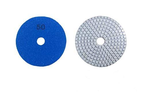GIPOTIL 5 unids/lote 4 100mm grano 50-3000 disco blanco húmedo almohadillas de pulido de diamante húmedo disco de sierra de diamante para pulido de mármol de granito, grano 50