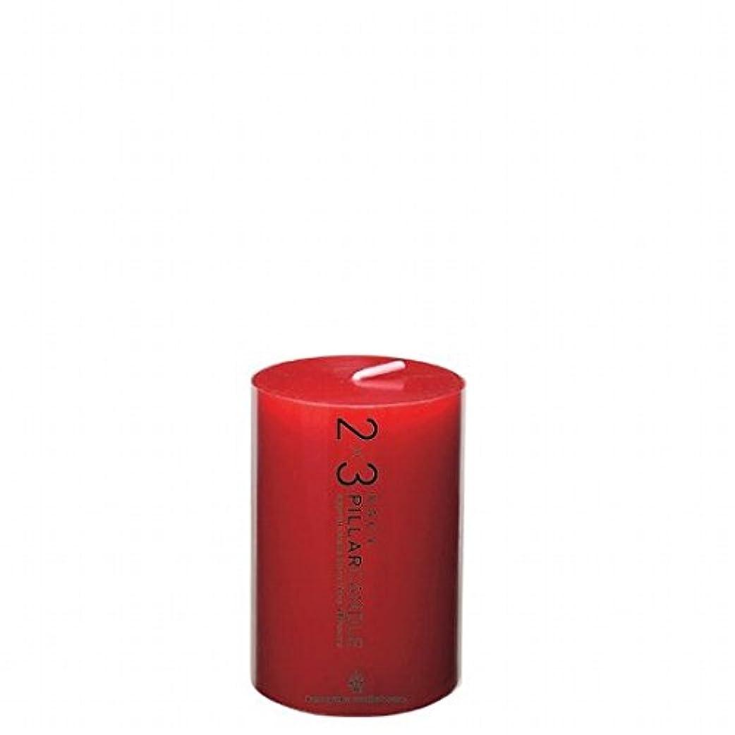 サイバースペース香り促すカメヤマキャンドル( kameyama candle ) 2×3ピラーキャンドル 「 レッド 」