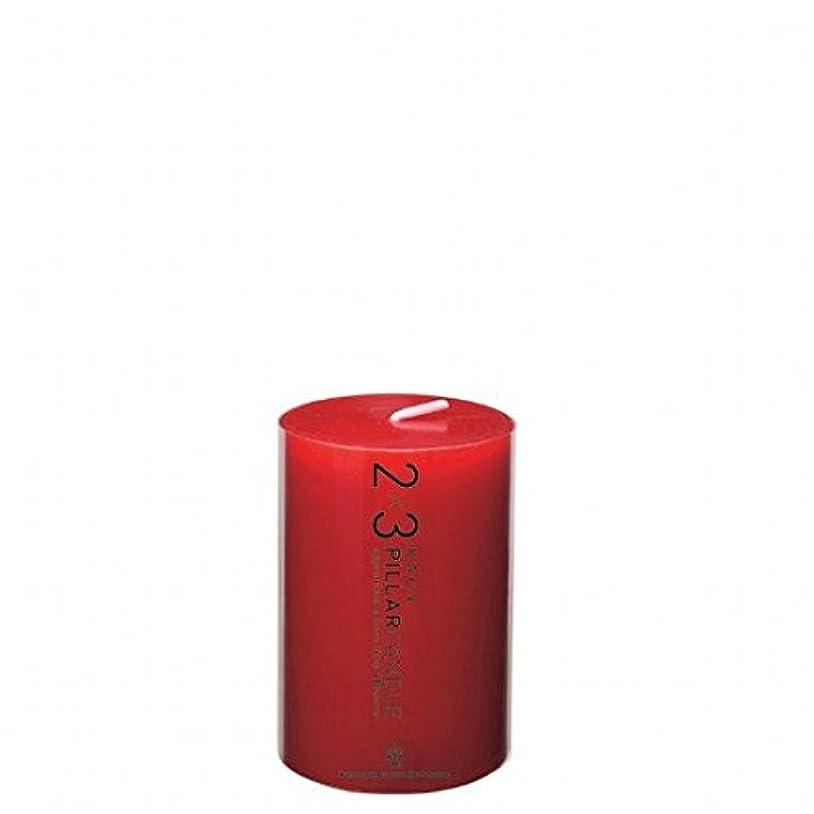 振る舞う銃バルコニーカメヤマキャンドル( kameyama candle ) 2×3ピラーキャンドル 「 レッド 」
