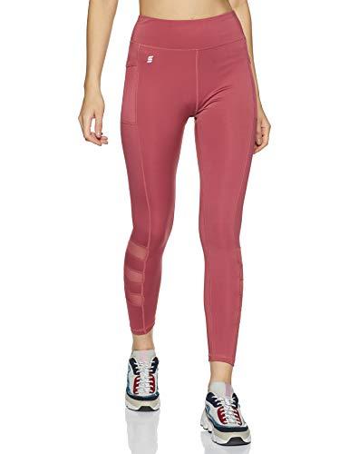Amazon Brand - Symactive Women's Fitted Sports Leggings (SYMACT-LG06_Bright Plum_Small)