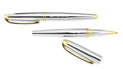 Ma`dor Metall Schreibset 2-teilig mit Kugelschreiber und Tintenroller in goldfarben/silberfarben - CSR-CC4