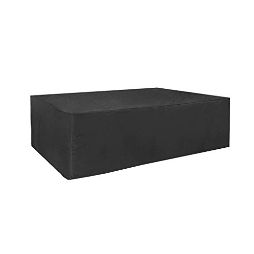 ZSML Funda Rectangular Negra para Muebles, mesas Resistentes a Prueba de Agua, sillas, jardín Exterior Transpirable antienvejecimiento, 200x140x90cm (Tamaño: 200x140x90cm)