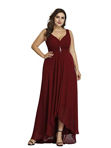 Ever-Pretty Women¡s Plus Size Formal Dress Wedding Party Dresses Maxi Dress Burgundy US16