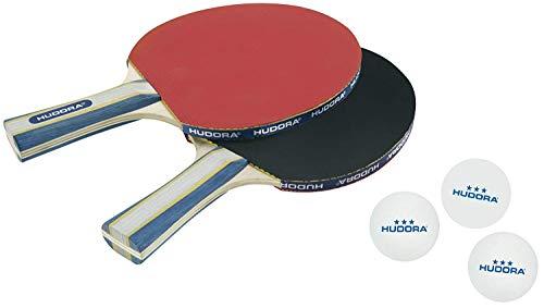 HUDORA Tischtennis-Set New Contest 2.0, 2 Tischtennis-Schläger + 3 Tischtennis-Bälle - 76245