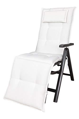 Kettler Polen KETTtex 2320 Auflage Relaxliegen Marbella weiß Sitzpolster 170x50x7,5 cm (ohne Liege)