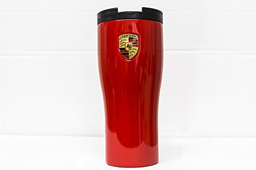 Genuine Porsche Crest Thermo Mug - Red