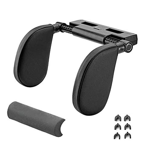 FDKJOK Almohada para reposacabezas de asiento de coche, almohada de espuma viscoelástica ajustable desmontable para dormir reposacabezas de coche soporte para el cuello (negro)