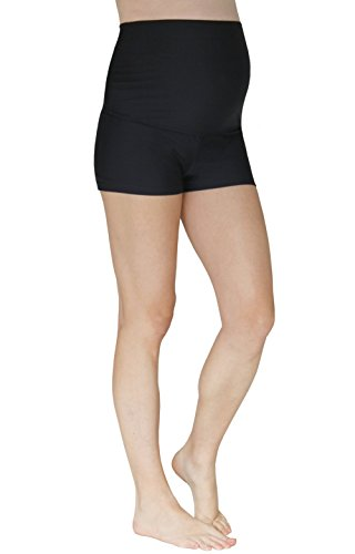 Product Image of the Mermaid Maternity Women's Maternity Boyshort Swim Bottom Small Jet Black