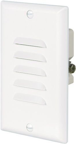 Eaton 7739W 15-Amp 120-Volt LED Steplight with Vertical and Horizontal Louvered Wall plates, White