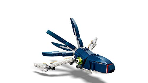 Product Image 5: LEGO Creator 3in1 Deep Sea Creatures 31088 Make a Shark, Squid, Angler Fish, and Crab with this Sea Animal Toy Building Kit (230 Pieces)