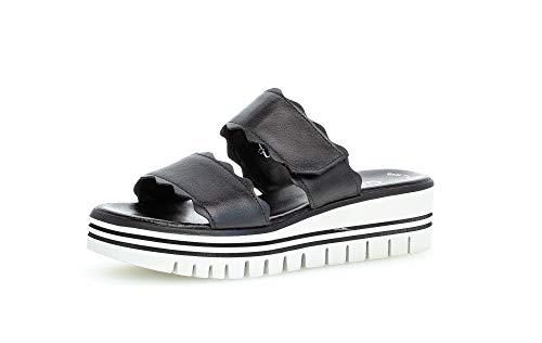 Gabor Damen Sandalen, Frauen Sandaletten,Best Fitting,bequem,Lady,Ladies,Women's,Woman,Plateausandaletten,Sommerschuhe,schwarz,40 EU / 6.5 UK