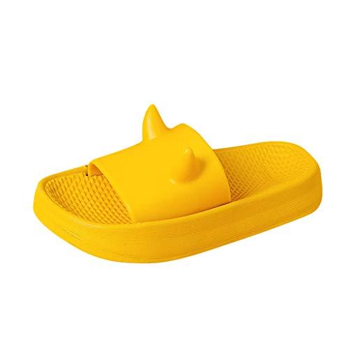 YWLINK Zapatillas De Verano NiñO NiñA Zapatos Caseros De Estilo De Dibujos Animados Lindo PVC Fondo Suave Antideslizante Interior Al Aire Libre Zapatos De BañO Regalo De CumpleañOs Fiesta